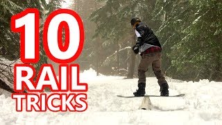 10 Snowboard Rail Tricks to Learn First
