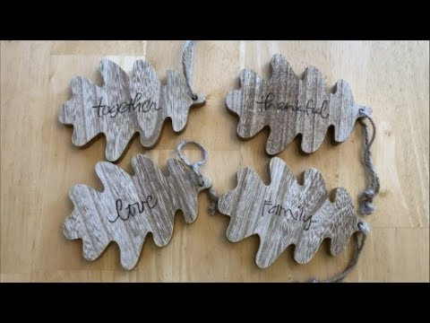Upcycle Dollar Wooden Leaves with a Wood Burning Tool