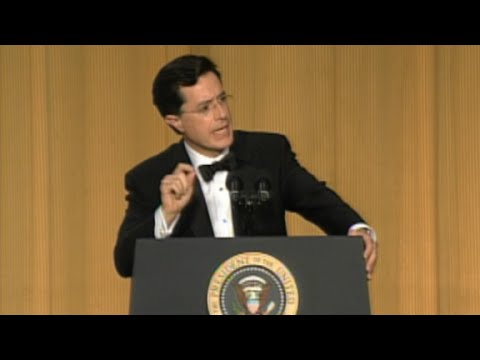 Watch Stephen Colbert at the 2006 White House Corresponde...