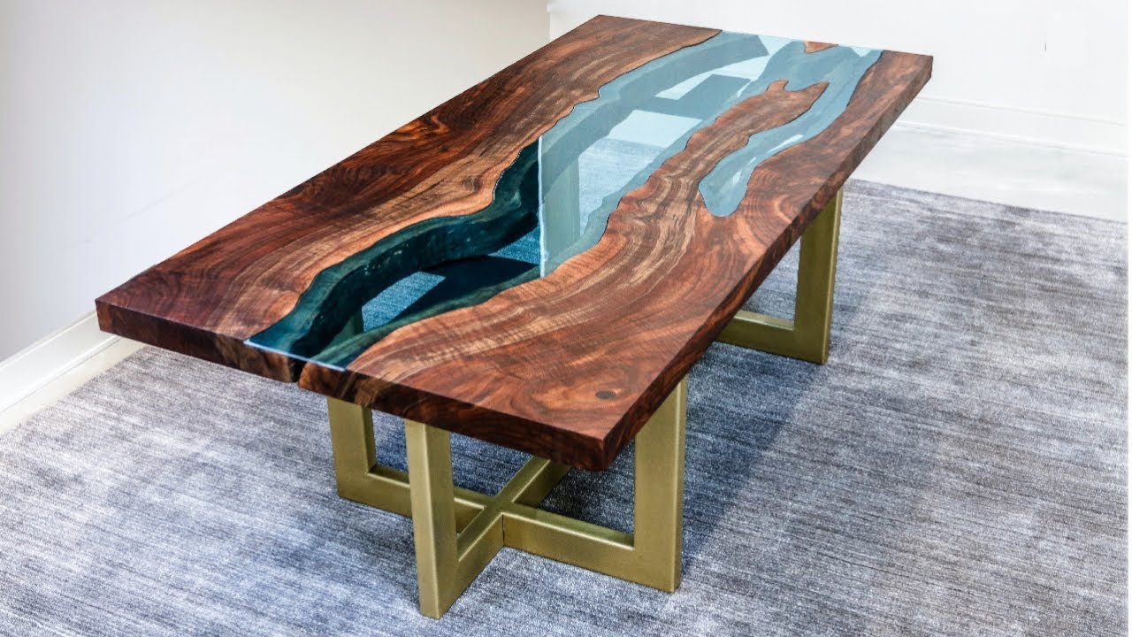Couchtisch Lackieren Live Edge River Table | Woodworking How-to - Youtube