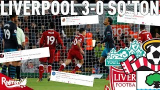 connectYoutube - Liverpool v Southampton 3-0 | Twitter Reactions
