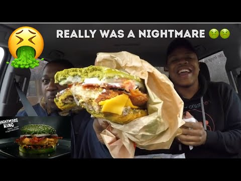 Burger King Nightmare King Burger Food Review | MAM EATING SHOW