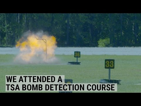 We Attended A TSA Bomb Detection Course