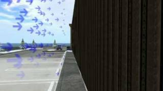 SolarWall - solar air heating system 3D rendering how it works