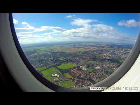 Durham Tees Valley Airport - Landing - KLM Fokker 70