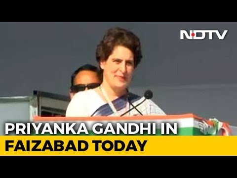 Priyanka Gandhi Vadra To Visit Faizabad Today