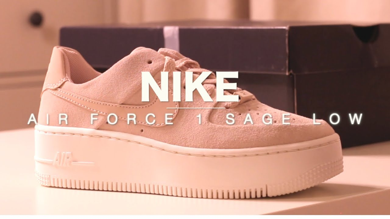 official photos 73825 39d79 NIKE Air Force 1 Sage Low | FEMININE TRAINERS
