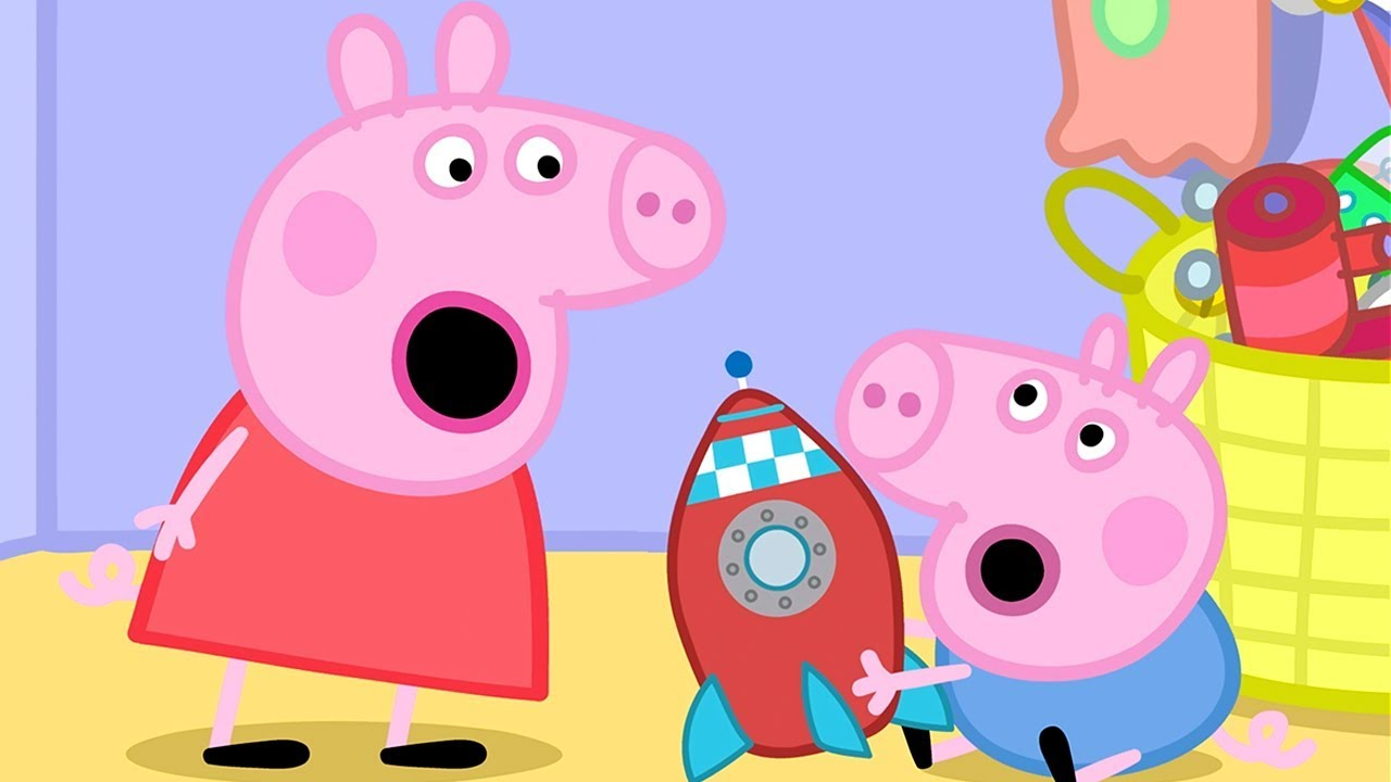 Peppa pig fran ais la pendule coucou dessin anim - Peppa cochon a la plage ...