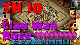 Clash of Clans: Town Hall 10 Clan War Base (25 wall update)
