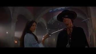 THE MASK OF ZORRO: Sword Fight Scene ZORRO and ELENA