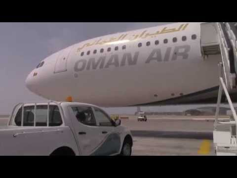Muscat Airport Bus Shuttle to the Jet [OMAN AIR A330]