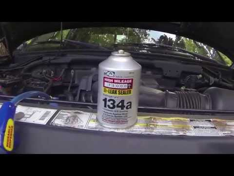 How to: adding freon/refrigerant/R134a to car/truck/suv