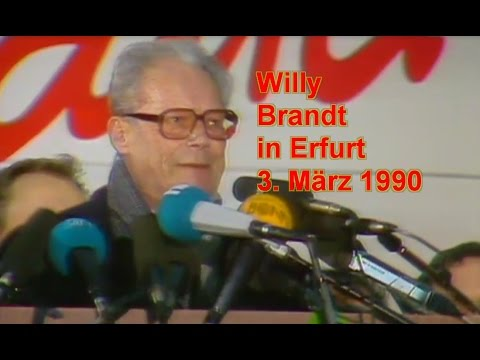Willy Brandt in Erfurt - 3. März 1990
