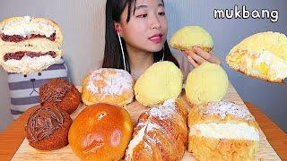 MUKBANG 부드러운 크림 가득 단팥빵과 소보루 카스테라구마 디저트 먹방 CREAM BREAD Dessert asmr クリームパン