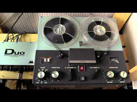 Ampex 1250 tube tape recorder Demo