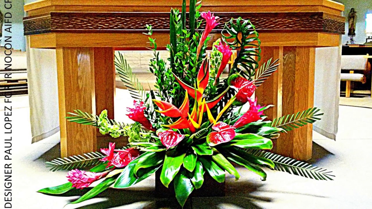 "FLORAL DESIGN INSPIRATIONS: ""TROPICAL SUNDAY FLOWERS"" A"