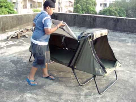 208 & Cabelau0027s Deluxe Tent Cot - YouTube
