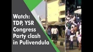 Watch: TDP, YSR Congress Party clash in Pulivendula - Andhra Pradesh News