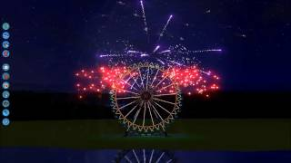 RCT3 New Years Fireworks display 2014 || Firework by Katy Perry || Roller coaster tycoon 3