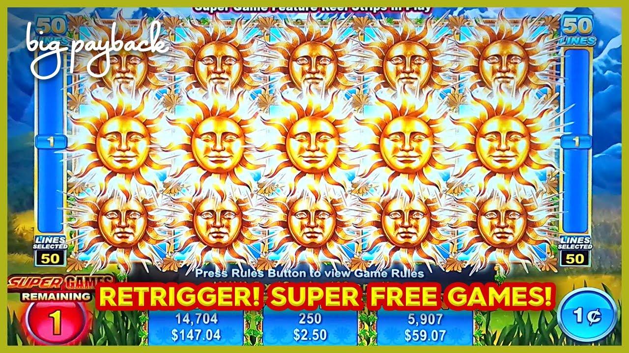 RETRIGGER BONUS! Sun Money Slot - SUPER FREE GAMES!