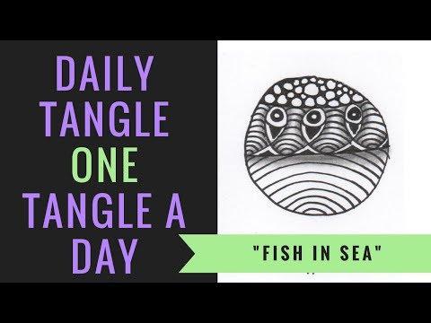 Daily Tangle - Fish in Sea