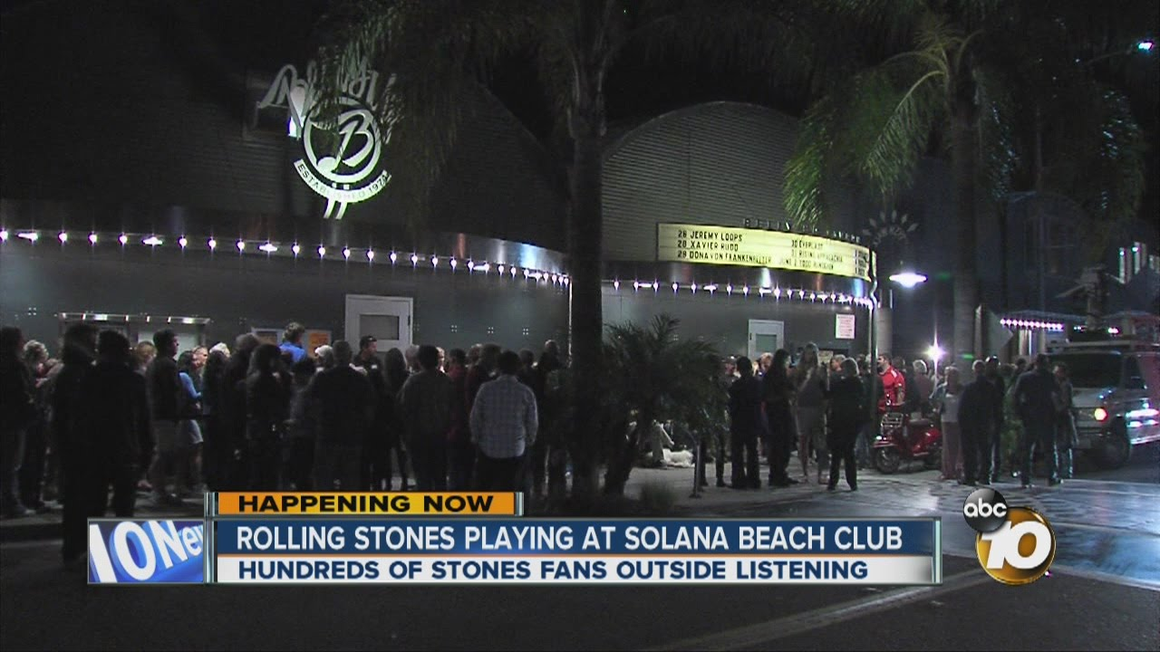 The Rolling Stones playing at Solana Beach club