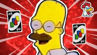 Homer Simpson with a moustache (UNO Funny Moments)