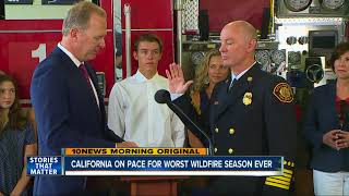 California on pace for record setting wildfire season