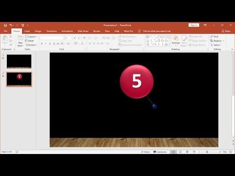Tutorial PowerPoint 2019 |Cara Membuat Slideshow Animasi Countdown Timer Bandul Dengan Music thumbnail