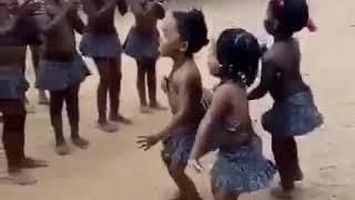 Black africa children magic