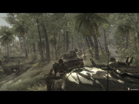 SUDDEN AMBUSH on the US Marines in Jungle ! In FPS Game about WW2 Call of Duty World at War