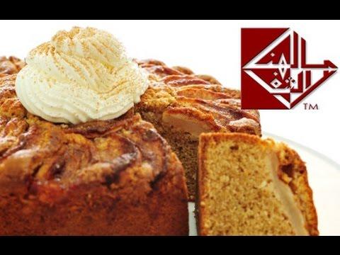 كيك التفاح والجبن  Cheese & apple cake