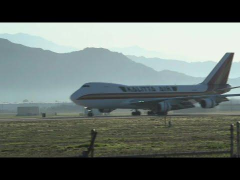 US Evacuation Flight From China's Coronavirus Zone Lands In California | AFP