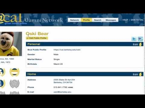 Building your profile in @cal, UC Berkeley