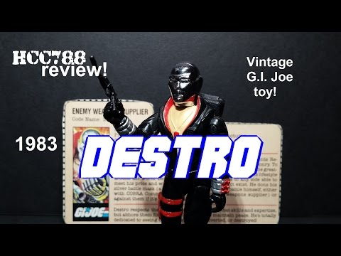 HCC788 - 1983 DESTRO - Enemy Weapons Supplier - Vintage G.I. Joe toy review! HD