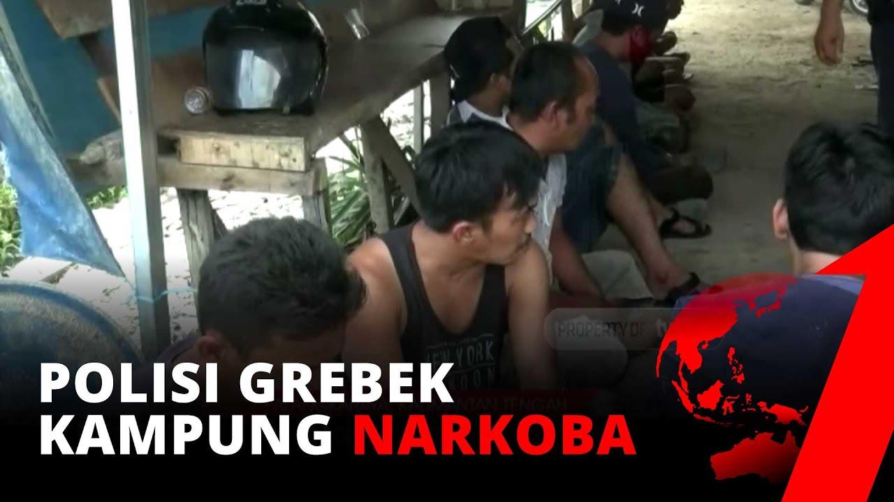 Polisi Gerebek Kampung Narkoba Putun di Palangkaraya