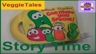 2005 VeggieTales God Made You Special Soft Story Plush Book By Big Idea