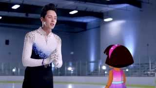 Johnny Weir Guest Stars On 'Dora The Explorer'