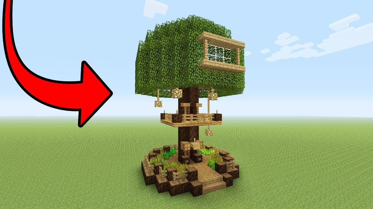 Minecraft tutorial how to make a beginner tree house for Build me a home