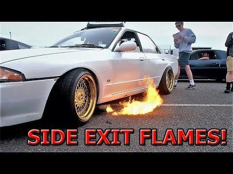 R32 SKYLINE SHOOTS HUGE FLAMES!