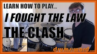 ★ I Fought The Law (The Clash) ★ Drum Lesson PREVIEW | How To Play Song (Topper Headon)
