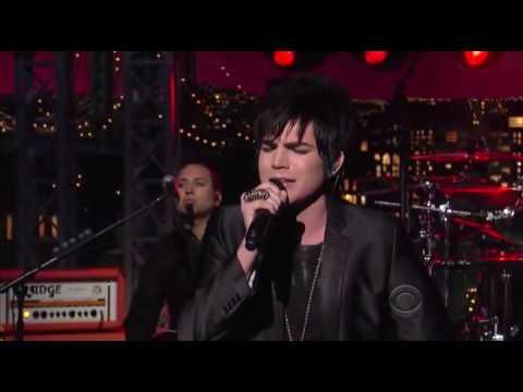 (HQ) Adam Lambert -Whataya Want from Me (David Letterman)