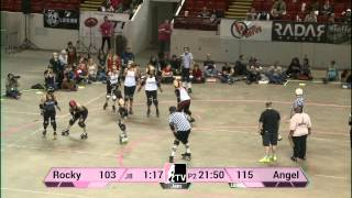 Rocky Mountain Roller Girls v Angel City Derby Girls: WFTDA Championships 2013 in Milwaukee