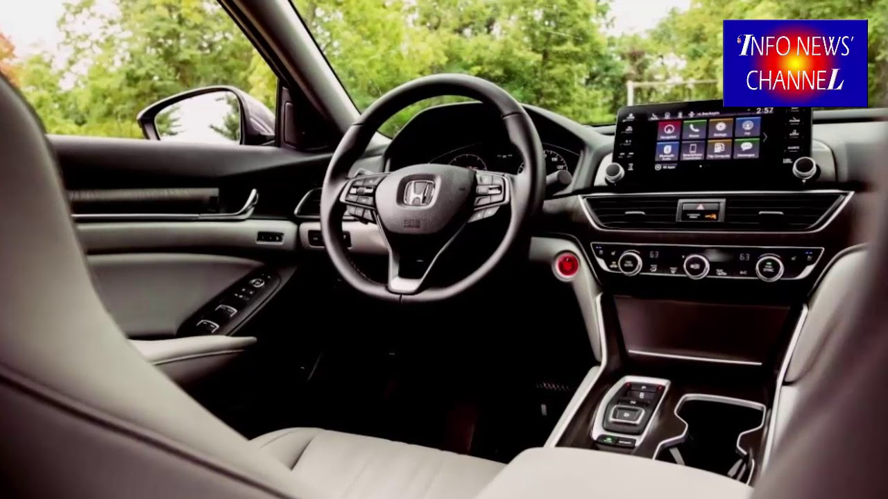 2019 HONDA ACCORD SEDAN Interior REVIEW - YouTube