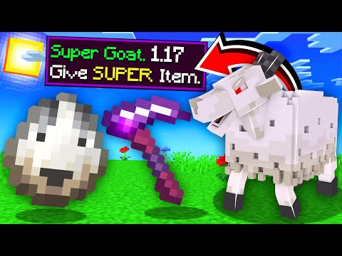 ماين كرافت الماعز يعطيني اغراض اسطورية!🔥 (تحولت شبح!)😱 - 1.17 Super Goat