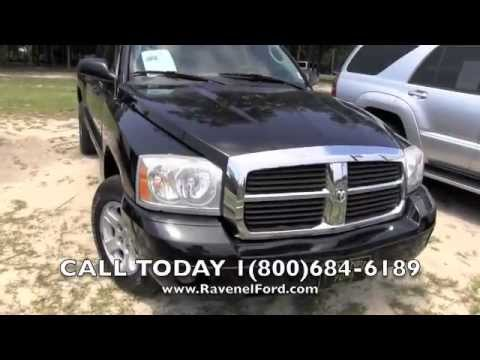 2005 dodge dakota slt quad cab charleston car videos review 66k miles for sale ravenel ford. Black Bedroom Furniture Sets. Home Design Ideas
