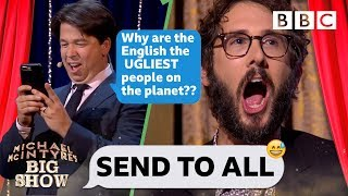 Josh Groban CRINGING with embarassment ...