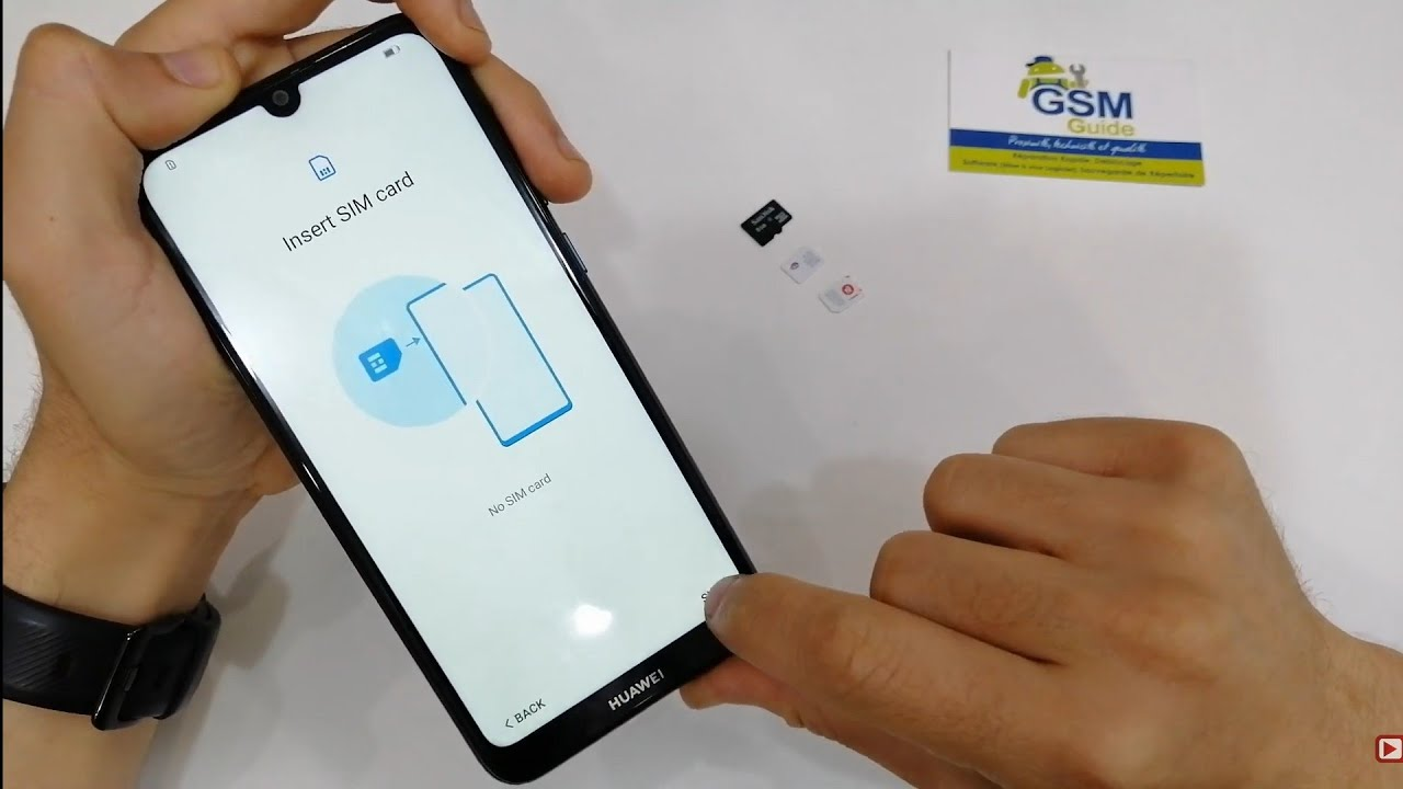 Huawei Y6 PRIME 2019 First Setup Active Insert nano Sim and Sd card- Gsm Guide