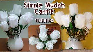 Cara Membuat Bunga Rose Dari Tissue Biasa Diy Simple Easy Rose Flowers Tissue Paper Youtube