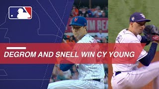 Jacob deGrom and Blake Snell win 2018 Cy Young Awards